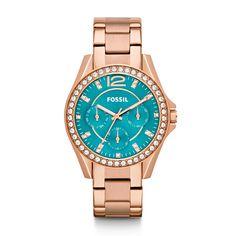 Orologio multifunzione Riley in acciaio - Toni delloro rosa ES3385 | FOSSIL®
