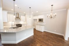 We love the shape of this Granite Island in our Sawyer Home