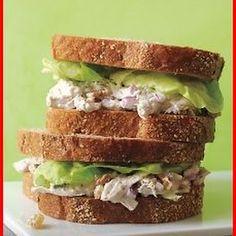 poached chicken salad sandwiches