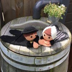 Patroon Zeeuwse lappenpop Knitted Dolls, Crochet Dolls, Crochet Baby, Knit Crochet, Crochet Christmas Stocking Pattern, Diy Teddy Bear, Diy Doll, Doll Toys, Christmas Stockings