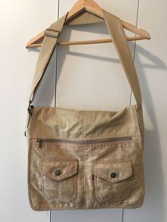 834b848c9e Levi s Messenger Bag Tan Suede bronze hardware brown geometric lining levi