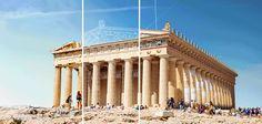 """L'agence de voyage en ligne Expedia a eu l'idée de ressusciter """"digitalement"""" des monuments célèbres en ruines. L'idée : lancer leur reconstruction sous la forme de GIFs animés qui détaillent chacune des étapes."""