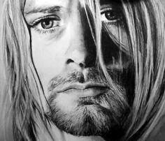 Kurt Cobain-A4,ołówki i węgiel