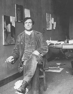 Amedeo Modigliani (1884-1920) - Italian artist who typified the bohemian artist found in Monmartre.   Sadly, his drug and alcohol abuse that ruined him probably served as a palliative to his tuberculosis. His portraits are excellent.   Amedeo_Modigliani_Photo.jpg 277×356 pixels
