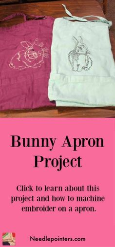 This video shows two aprons which were machine embroidered with bunny designs. Easter Crafts, Fun Crafts, Crafts For Kids, Diy Kitchen Projects, Fun Projects, Machine Embroidery Projects, Types Of Craft, Embroidery For Beginners, Mothers Day Crafts