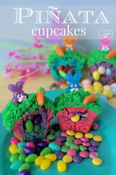 How to make pinata cupcakes or cake! Super easy to do and it's such a fun birthday party dessert!!