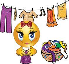 Heute ist Waschtag, bei dem schönen Wetter wird die Wäsche rausgehängt.