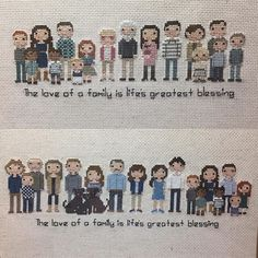 Wonderful Free of Charge Cross Stitch people Style A big order I finished last week for a friend of mine from MOMS Club. It's a lot of fun to help p Cross Stitch Family, Tiny Cross Stitch, Cross Stitching, Cross Stitch Embroidery, Cross Stitch Patterns, Cross Stitch Pictures, Yarn Thread, Cute Quilts, Needlework