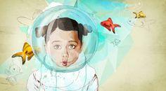 Fish Girl by Ariana Perez, via Behance