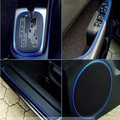 5M Car Moulding Trim PVC Sticker Line Interior Exterior Body Modify Decal Blue