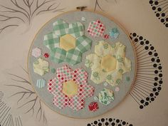 oh heck, I love it. I was having so much fun hand sewing those hexies on I didn't want to stop! Now I need to make one for me.  The teeny ones were a complete bitch - they are less than 0.5 inch across at their widest point, but I like a challenge an July Scrapbooking and Wall Art for your home  in america