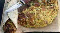 Video Andreas Myhrvold lager omelett på bål