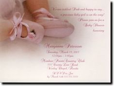 Ballerina Baby Shower Invitations