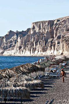 Vlychada beach, Santorini, Greece