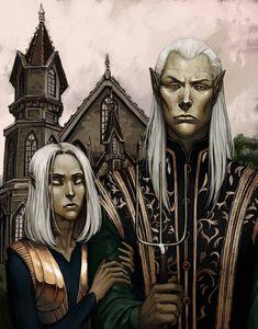 Thalmorys Gothic by Yomi-Ferus on DeviantArt The Elder Scrolls, Elder Scrolls Tamriel, Elder Scrolls Games, Elder Scrolls Skyrim, Vampire Love, Vampire Art, Dark Fantasy Art, Fantasy Artwork, Fantasy