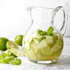 This delicious white wine sangria is guaranteed to be a hit. Honeydew melon, cucumber, lime and fresh mint leaves give a fresh, fruity taste to this homemade white sangria recipe. Summer lovin' is as close as your cup!