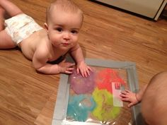 Our little sweet peas: Infant activity Painting Activities, Sensory Activities, Infant Activities, Activities For Kids, Baby Play, Baby Kids, Infant Play, Infant Room, Baby Painting