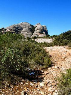 The rocks of Montserrat near Barcelona - where easy hiking trails abound