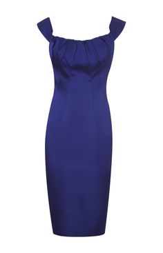 Karen Millen Satin Pencil Dress Blue Product details: * Signature stretch satin pencil dresswith with intricate panelling and gathered neckline with cutaway detail to back. * Material :22% Polyamide,3% Elastane,75% Acetate * Color : Show as pictures Free shipping and fast delivery to all over the world.