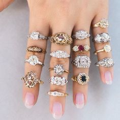 Choose your favorite vintage engagement ring from Victor Barboné Jewelry!
