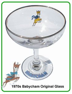 1970s Babycham Glass.  I had a set of these!  We used to have babycham with cherries in at Christmas - and thought we were very cultivated!