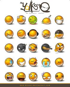 emoticons packs by Bad-Blood on DeviantArt Web Design, Game Ui Design, Game Icon, Icon Set, Blushing Emoticon, Smile Icon, Computer Icon, Ecommerce Website Design, Game Ui