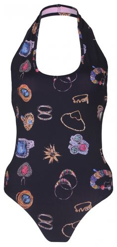 Scattered jewellery swimsuit from Natalie B Coleman