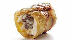 Canelón crujiente de pollo, de João Alcantara Chefs, Snack, Baked Potato, Tapas, Potatoes, Baking, Ethnic Recipes, Change, Foods