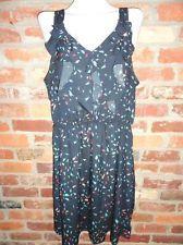 $19.95 OBO Women's Mossimo Mult Colored Geometric Print Ruffle Tank Dress Size: XL Free Shipping
