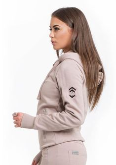 Beige Full Zip Hoodie – Aztec Diamond Equestrian (UK) Limited