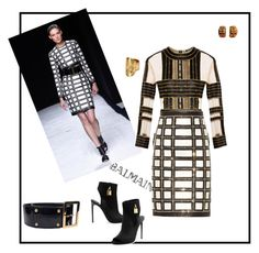 """Untitled #92"" by zako14 on Polyvore featuring Balmain, David Webb, Tom Ford, Louis Vuitton, women's clothing, women's fashion, women, female, woman and misses"