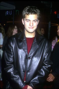 Joshua Jackson then: Obsessed with pleather Logan Gilmore, Josh Jackson, Joey Potter, Pacey Witter, Hot Actors, Dream Guy, Celebs, Celebrities, Movies Showing