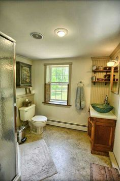 Like the paneling by sink and behind toilet