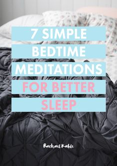 Struggling to relax and fall asleep at night? Discover 7 simple bedtime meditations you can do in bed to help you sleep better. From a soothing visualisation to mindful breathing, these meditations for sleep are simple and effective to help you unwind. Bedtime Meditation, Breathing Meditation, Types Of Meditation, Easy Meditation, Meditation Benefits, Meditation For Beginners, Meditation Techniques, Meditation Quotes, Meditation Music