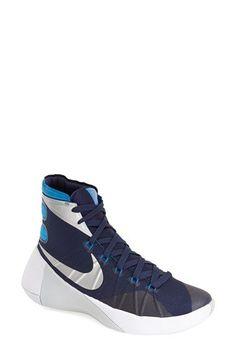 Nike 'hyperdunk Basketball Shoe (women) In Midnight Blue/ White Nike Shoes Cheap, Nike Free Shoes, Nike Shoes Outlet, Running Shoes Nike, Basketball Shorts Girls, Basketball Tricks, Adidas Basketball Shoes, Basketball Games, Basketball Shooting