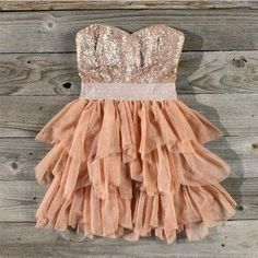 country dress with glitter :)