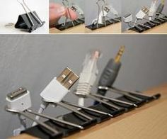 Clever use of binder clips!