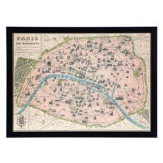 Paris Map from Z Gallerie #zgallerie