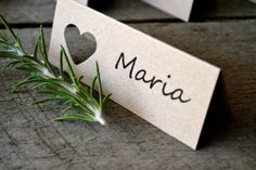 Rustic Wedding place cards by LaPommeEtLaPipe on Etsy, $1.00