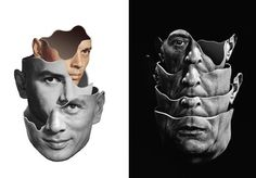 Fragmented Surrealism Collages - Matthew Bourel's Striking Art Pieces Reveal Retro Imagery (GALLERY)