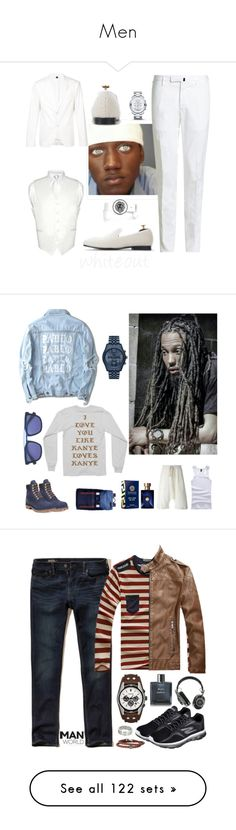 """Men"" by ohitsjanedoe ❤ liked on Polyvore featuring Neil Barrett, Incotex, Versus, Movado, men's fashion, menswear, Timberland, Lost & Found, Michael Kors and Marni"