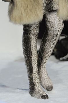 Moncler Gamme Rouge Fall 2013 - wow, wish it wasn't real fur though