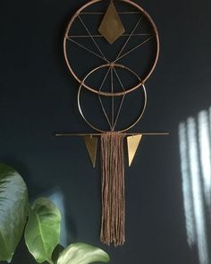 Sacred Geometry Wall Hanging #brass #wallart #bold #unique #handmade #Australian #cool #edgy #wyldling #wallhanging