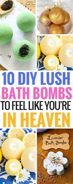 DIY Lush Bath Bombs - The best bath bomb recipes to make you feel good! Perfect for those days when you just want to relax and feel great. The following bath bombs are SUPER EASY to make too!