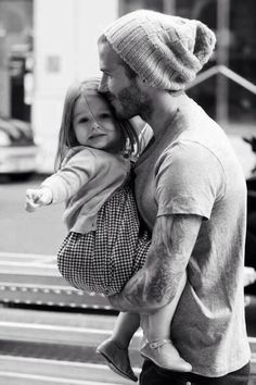 Dads Are The Original Hipsters - david beckham with daughter harper