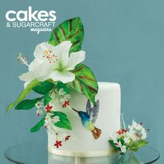 My project for last Issue of Cake and Sugarcraft Magazine. It's all wafer paper decoration. I love that cake and specially flowers. 7 Cake, Cake Art, No Bake Cake, Butterfly Cakes, Flower Cakes, Wafer Paper Flowers, Hummingbird Cake, Hand Painted Cakes, Heart Cakes