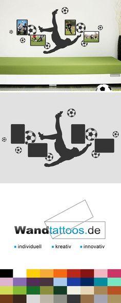 Wandsticker Wanddeko Wandtattoo Fußballtrikot Jungs Fußball ...
