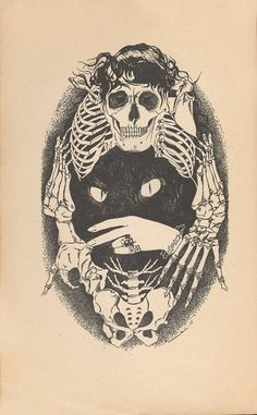 """illustrations from 1927 by Jean Marembert for Petrus Borel's book, """"Le Lycanthrope."""" I'm not allowed to get a skull. Illustrations, Illustration Art, Silkscreen, Book Art, Skull And Bones, Skull Art, Cat Skull, Conte, Art Drawings"""
