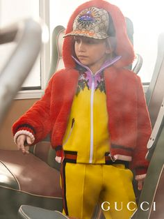 aa3681300c66e Embroidered track suit and hat from the Gucci Fall Winter 2017 Children s  Back to School Collection