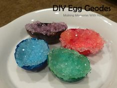 DIY Egg Geodes {Science Experiment}